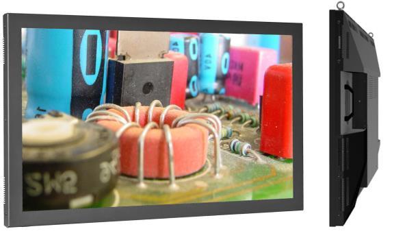 Großbild-TFT - optional einsteckbarer Industrie-PC 32'' bis 65''
