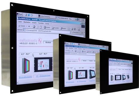 InduIndustrie-Einbau-TFT mit Minimalfrontplatte 6,5'' bis 24''
