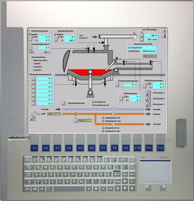 Industrie-Panel PC mit integrierter Tastatur 15'' bis 19''