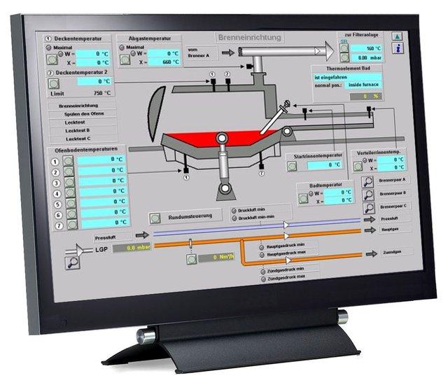TFT-Flachdisplaymonitor Desktop 8,4'' bis 12,1''